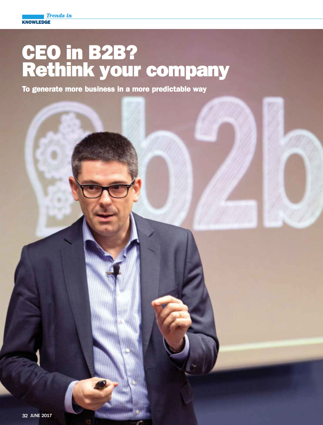 CEO in B2B-Rethink your company